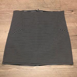 Topshop black and white mini skirt